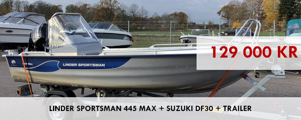 UTFÖRSÄLJNING LINDER SPORTSMAN 445 MAX!