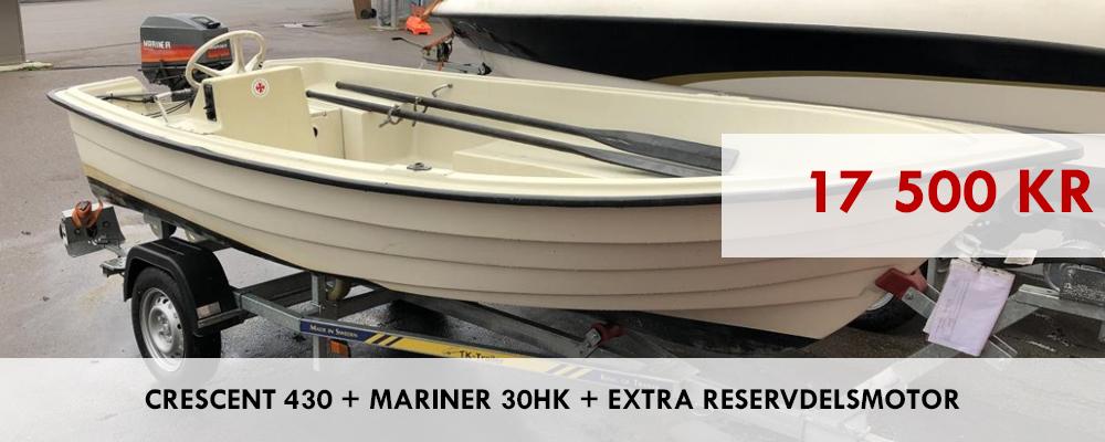 Crescent 430 + Mariner 30hk