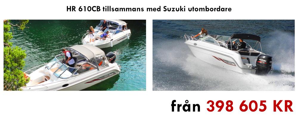 HR 610CB tillsammans med Suzuki utombordare!