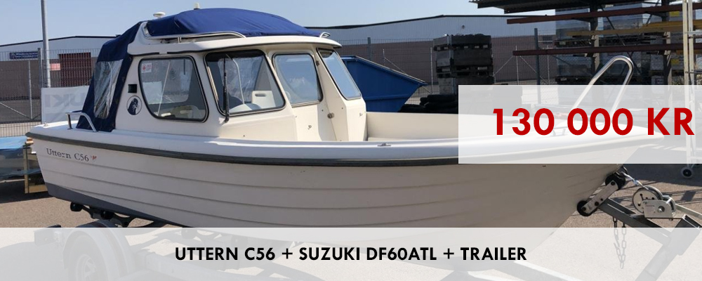 Uttern C56 + Suzuki DF60ATL + Trailer